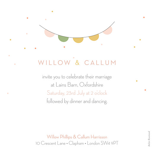 Wedding Invitations Lovely couple pink