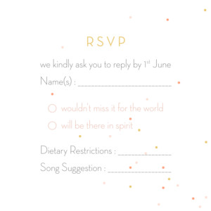 RSVP Cards Lovely couple pink