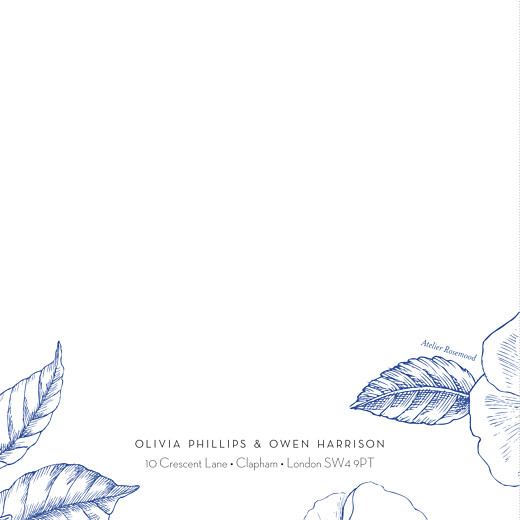Wedding Invitations Engraved chic (4 pages) blue - Page 4