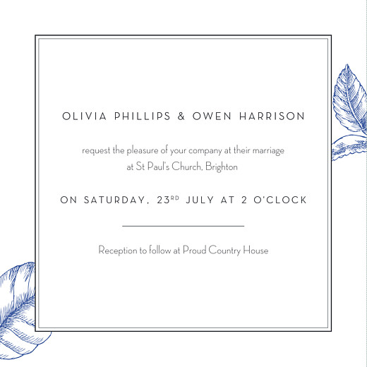 Wedding Invitations Engraved chic (4 pages) blue - Page 3