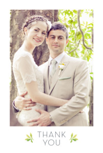 Wedding Thank You Cards Forest whisper green