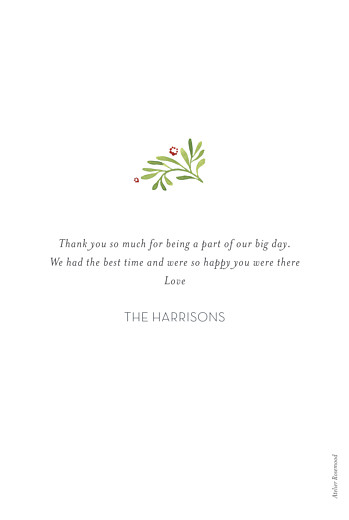 Wedding Thank You Cards Forest whisper green - Page 2