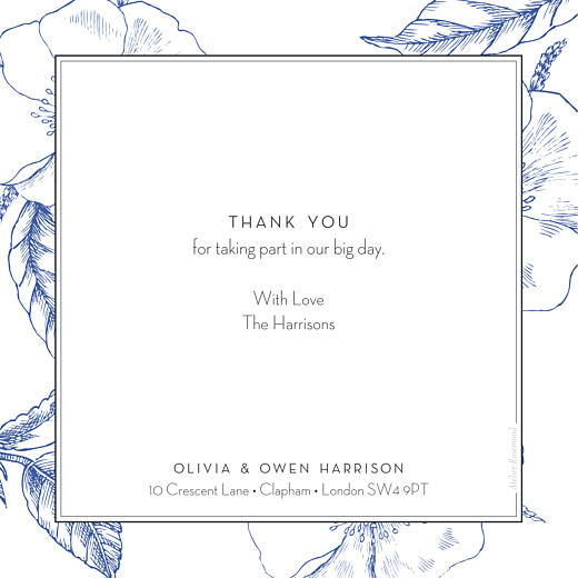 Wedding Thank You Cards Engraved chic blue - Page 2