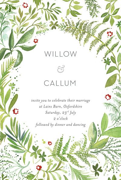 Wedding Invitations Forest whisper green finition