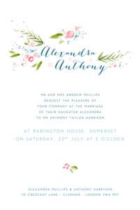 Wedding Invitations One spring day white