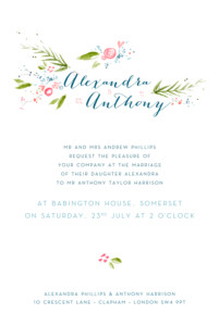 Wedding Invitations One spring day white