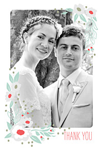 Eden blue wedding thank you cards