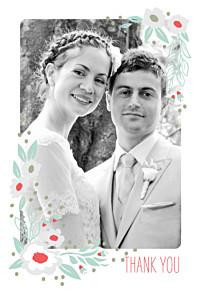 Wedding Thank You Cards Eden blue