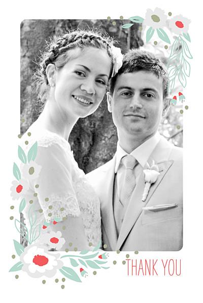 Wedding Thank You Cards Eden blue finition