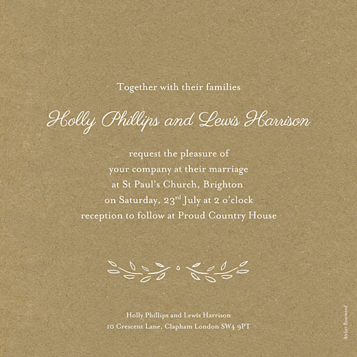Wedding Invitations Poem kraft - Page 2