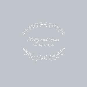 Wedding Invitations Poem grey