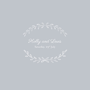 Wedding Invitations Poem (4 pages) grey
