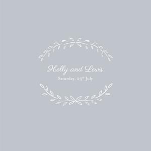 Poem (4 pages) grey grey wedding invitations