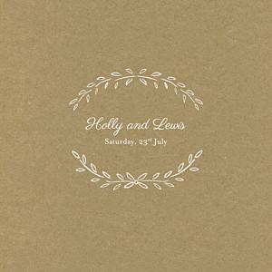 No photos poem (4 pages) kraft wedding invitations