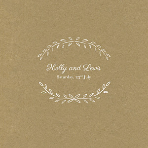 Poem (4 pages) kraft brown wedding invitations
