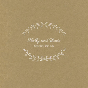 Wedding Invitations Poem (4 pages) kraft