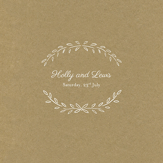 Wedding Invitations Poem (4 pages) kraft - Page 1