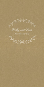 Wedding Menus Poem kraft
