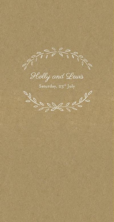 Wedding Menus Poem kraft finition