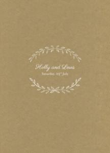 Order of Service Booklets Poem kraft
