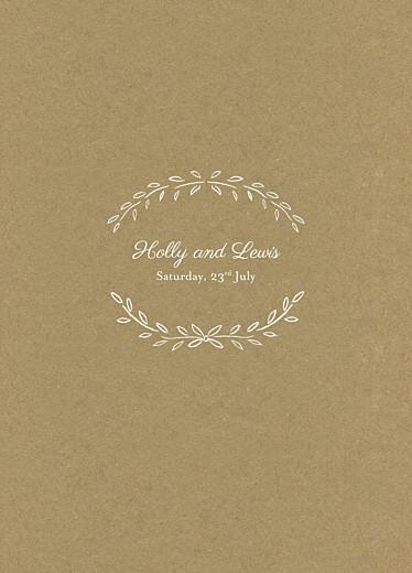 Wedding Order of Service Booklets Poem kraft