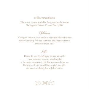 Guest Information Cards Poem kraft