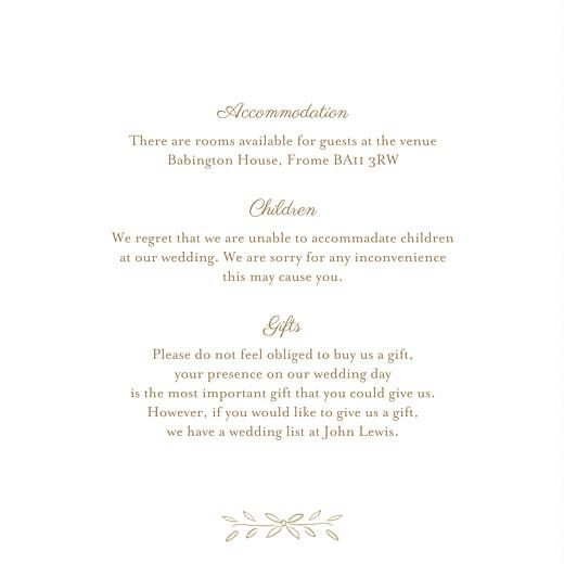 Guest Information Cards Poem kraft