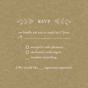 RSVP Cards Poem kraft