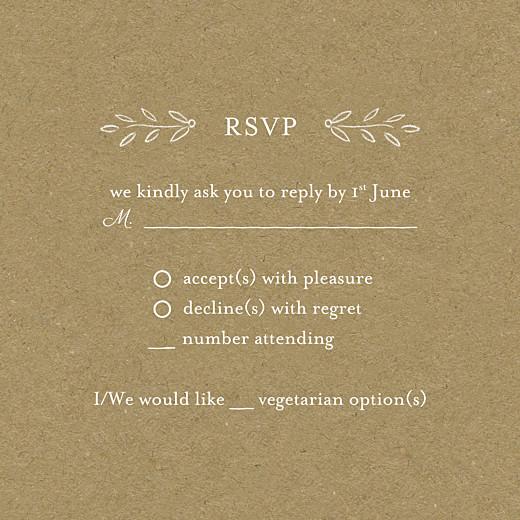 RSVP Cards Poem kraft