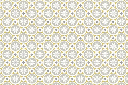 Notecards Mosaïc grey & yellow