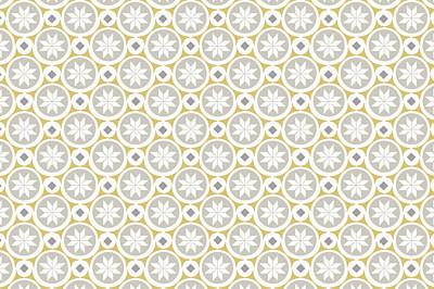 Notecards Mosaïc grey & yellow finition