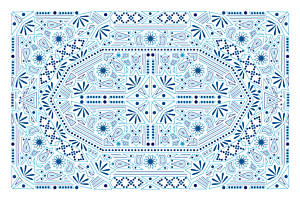 Nomad blue & white notecards