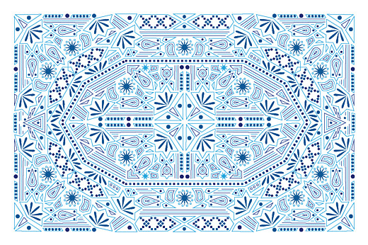 Notecards Nomad blue & white