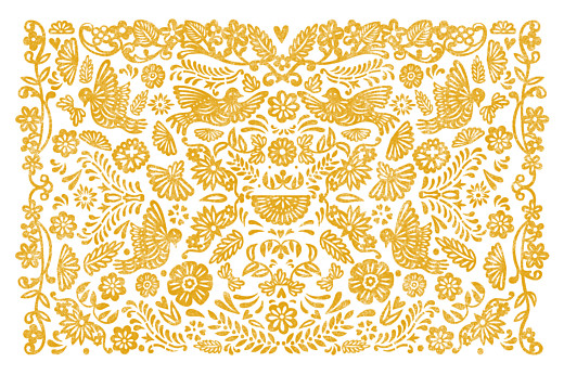 Notecards Papel picado yellow