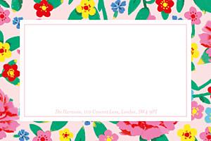 Peony pink marguerite courtieu notecards