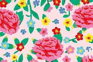 Notecards Peony pink