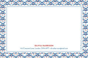 Notecards Fantasia blue