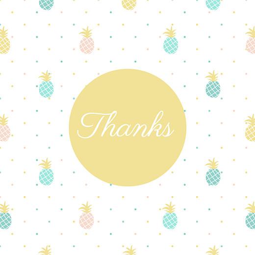 宝贝,菠萝绿的感谢卡