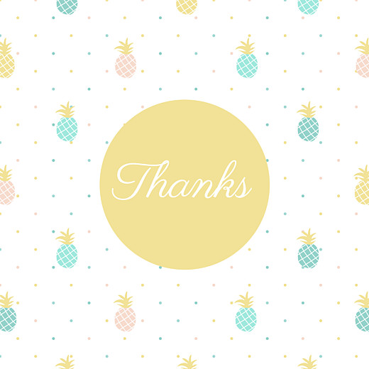 Baby Thank You Cards Pineapple green