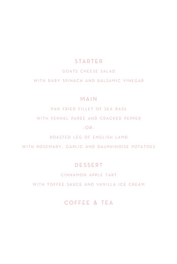 Christening Menus Lovely heart pink - Page 3