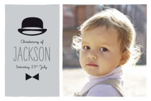 Christening Invitations Dandy grey