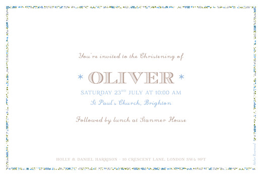Christening Invitations Liberty cross landscape blue - Page 2