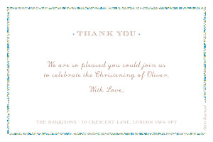 Baby Thank You Cards Liberty cross landscape blue