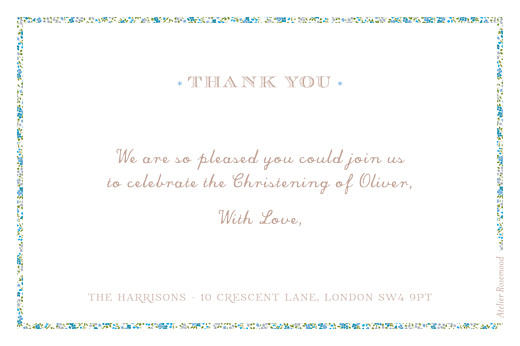 Baby Thank You Cards Liberty cross landscape blue - Page 2