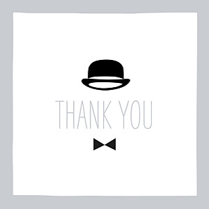 Dandy grey marion bizet baby thank you cards