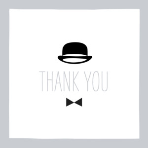 Baby Thank You Cards Dandy grey