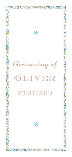 Christening Gift Tags Liberty cross blue