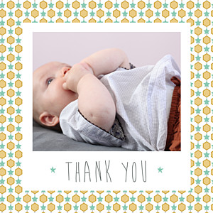 Baby Thank You Cards Capri (photo) mustard yellow