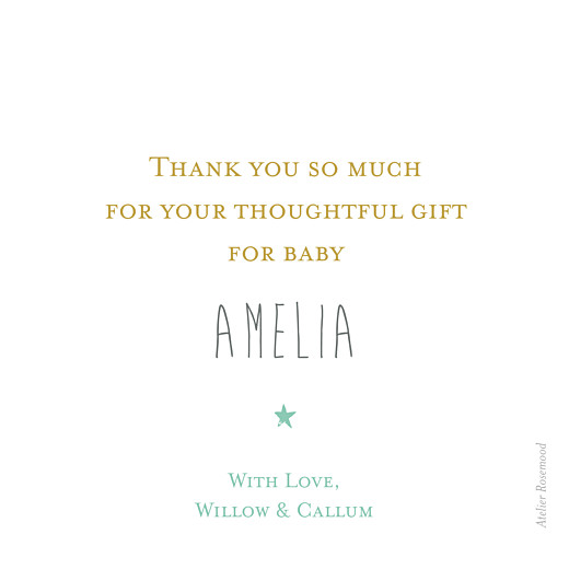 Baby Thank You Cards Capri (photo) mustard yellow - Page 2