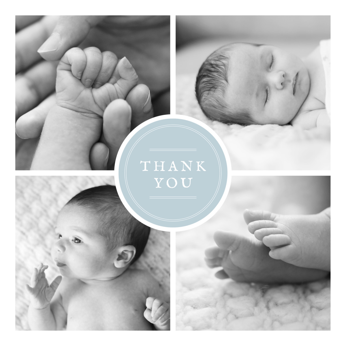 Rosemood: Baby Thank You Cards Medallion